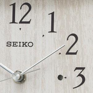 SEIKO セイコー 置き時計 電波 アナログ 薄グレー BZ237A【お取り寄せ】