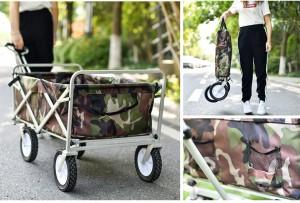 キャリーワゴン カバー付き 折りたたみキャリーカート マルチ アウトドア 持ち運び便利 夏秋キャンプ用 子供乗る可能
