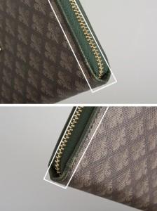 訳あり展示品箱なし パトリックコックス 財布 長財布 ラウンドファスナー 灰茶系(内側:緑) PATRICK COX pxlw3gt2 b レディース 婦人