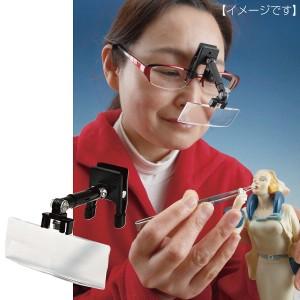 メガネに付ける クリップ式 拡大鏡 眼鏡に付ける