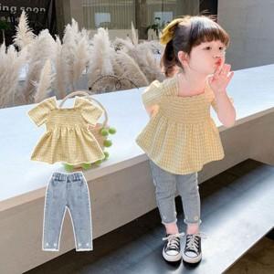 韓国子供服 キッズ 女の子 セットアップ 夏 Tシャツ パンツ 90 100 110 120 130 140cm カジュアル パンツセット 韓国風 通学 旅行 お出か