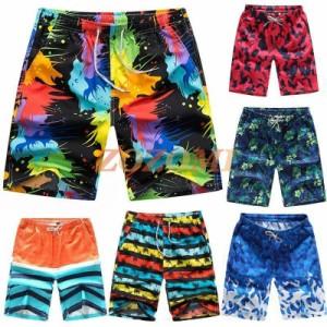 海水パンツ メンズ水着 水着 メンズ 男性用 無地 サーフパンツ 水陸両用 海パン トランクス ハーフパンツ