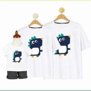 家族 お揃いコーデ 夏服 Tシャツ 半袖 ペアtシャツ 男の子 女の子 おしゃれ 子供 兄弟 お揃いコーデ 親子コーデ 家族写真 お揃いコーデ