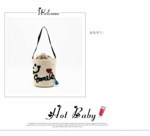 夏らしいデザイン 夏VIVI 刺繍 キッズ バッジ かごバッグ バッグ カゴバッグ