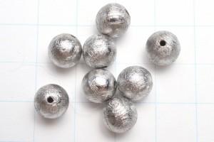 ギベオン(メテオライト)隕石 シルバー 8mm 粒売り_T320-8