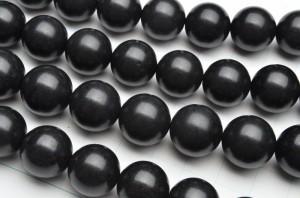 北海道産ブラックシリカ 14mm 1連(約38cm)_R5500-14