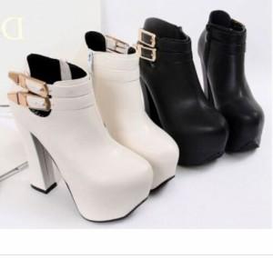 予約販売 前厚ストームショートブーツ全2色★靴/美脚/レディース
