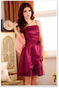 予約品 大きいサイズ シースルー切替キャミドレス 結婚式、パーティードレス 姫系 Aライン F/2L/3L/4L
