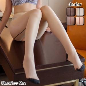 ストッキング レッグウェア タイツ パンスト カット クロッチ 快適 色気 ベージュ ブラック レッド フリーサイズ