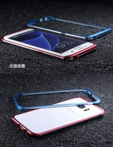 Samsung GALAXY S7 Edge ケース アルミ バンパー スタンドアーム エレガント かっこいい ギャラクシーS7 エッジ用 バンパーカバー おす