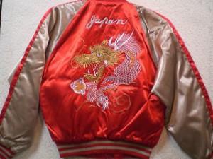 スカジャン 金玉龍 日本製本格刺繍のスカジャン