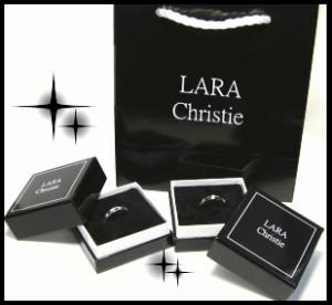 ペアリング 2本セット シンプル お揃い LARA Christie フォーエバーペアリングr3868-p