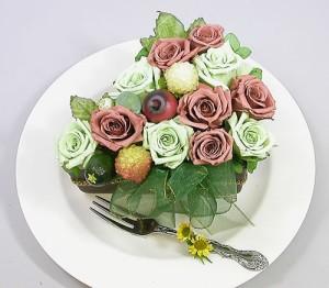 【誕生日】 【花】 【送料無料】 プリザーブドフラワー マロンショートケーキ 誕生日【女性】