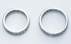 ペアリング ステンレス 2本セット シンプル お揃い ダイヤモンド EVE-GRSD38