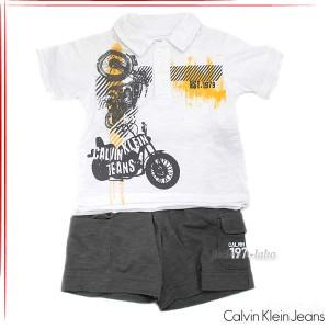 513ad8b1902e4 あす着 CKカルバンクラインジーンズ ボーイズ ポロシャツ パンツ 2ピースセット ベビー服3672211