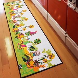 """""""ホラグチカヨデザイン キッチンマット オーケストラ (N) 約50×120cm"""""""