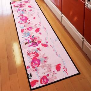 """""""ホラグチカヨデザイン キッチンマット ピンクディア (N) 約50×180cm"""""""