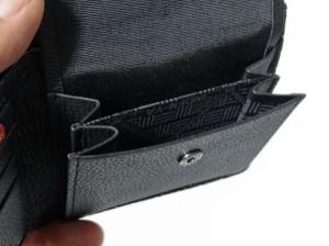 印傳屋/和柄財布/印伝本格二つ折り財布/黒地黒漆/瓢箪柄/2006-1007