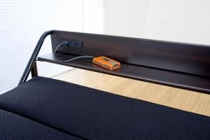 【送料無料!ポイント2%】便利な電動リクライニング!宮付モコモコ電動折りたたみベッド