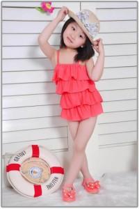 5c2072c0727 Y262 女児水着 子供 水着 かわいい 可愛い女の子 みずぎ ラブリー プリンセス水着 帽子付き (