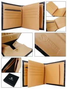 『送料無料』 ジョンハリソン牛革クロコ型押し二つ折り財布 【ファッション/アクセサリー/ギフト/ラッピング】