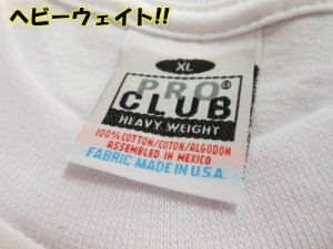 PRO CLUB(プロクラブ) メンズ 無地ビッグサイズ 長袖 ヘビーウェイト Tシャツ 【インポート】