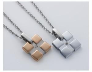 ペアネックレス ステンレス ダイヤモンド カップル お揃い 送料無料 EVE-GPSD24STSV-25STRO/15,552円