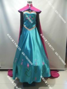 a6f615f110cee ディズニー アナと雪の女王 Frozen エルサ 戴冠式 ドレス +マント コスプレ クリスマス ハロウィン