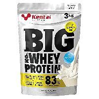 ビッグ 100%ホエイプロテイン プレーンタイプ 3kg 【送料無料/Kentai(ケンタイ)/健康体力研究所】