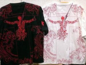 【大きいサイズ】エヴァンゲリヲン X錦コラボ半袖Tシャツ ロンギヌスの槍プリント