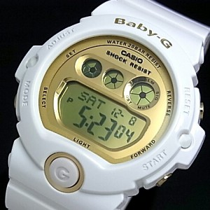 カシオ/G-SHOCK【CASIO/BABY-G】ペアウォッチ 腕時計 ホワイトXシルバー/ゴールド DW-6900MR-7JF/BG-6901-7JF【国内正規品】
