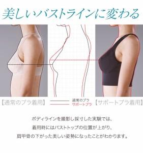 送料無料 土井千鶴さんのボディサポートブラ 30代からの 胸・ワキ・背中の下垂対策!締め付けすぎない超立体ボティ補正ブラシャー