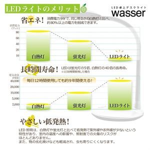 送料無料 wasser ヴァッサ LED卓上ライト03 wasser_light03 タッチセンサーLEDライト デスクライト