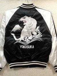 スカジャン 白虎 日本製本格刺繍のスカジャン
