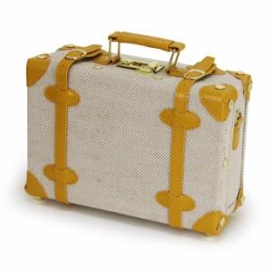 送料無料◆リネントランクケース 25-5011 ベージュ (スーツケース型/ミニトランク/手提げ鞄) 【アウトドア】 【ファッション】