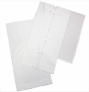 二部式襦袢 夏用 絽 紋紗 麻混 白 M L 単衣 夏物 着物 和装 下着 女性用 レディース