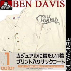 ben davis ワークジャケット ベンデイビス サックコート ベンデービスのネップヘリンボーンジャケット登場。BEN-024