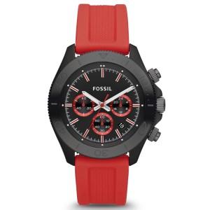 メンズ腕時計 FOSSIL フォッシル  RETRO TRAVELER レトロ トラベラー CH2871 レッド メンズウォッチ 誕生日 プレゼント ギフト