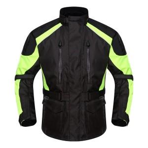 新品 DUHANメンズ バイクジャケット 春夏レーシング服 プロテクター装備 3シーズン バイクウェア 耐磨 防風通気 メッシュ