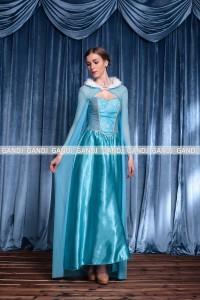 f71b46ee22a39 エルサ アナと雪の女王 ディズニー コスプレ ハロウィン キャラクター アニメ ドレス7796