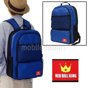 タイムセール RED BILL KING リュック レディース 通学 高校生 リュックサック 大人 デイパック バックパック 防災バッグ TN-01 青