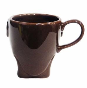 ピッグフェイスマグカップ ブラウン ブタ鼻マグカップ おもしろ雑貨コーヒーカップおもちゃ