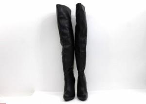 あす着 TSURU by Mariko Oikawa ツルバイマリコオイカワ ニーハイブーツ ヒール シューズ 靴 ブラック レディース