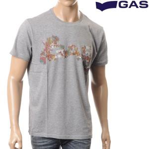 """GAS JEANS ガスジーンズ メンズ半袖Tシャツ クルーネック グレー 542740 182037"""