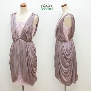 パーティードレス401 OUTLET パーティードレス 結婚式 ドレス ワンピース お呼ばれ M ピンク 20代 30代 即納 訳あり