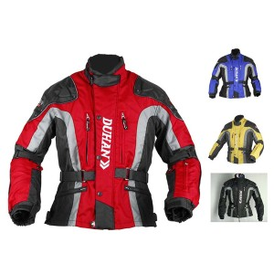 DUHANメンズ バイクジャケット 春夏レーシング服 プロテクター装備 3シーズン バイクウェア 耐磨 防風通気  メッシュ 4色