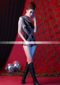d51bee9bf2c97 激安 セール ステージ衣装 アイドル コスプレ☆キラキラチョーカー&ワンショルチェーンフリンジのステージ衣装