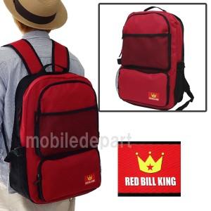 タイムセール RED BILL KING リュック レディース 通学 高校生 リュックサック 大人 デイパック バックパック 防災バッグ TN-01 赤