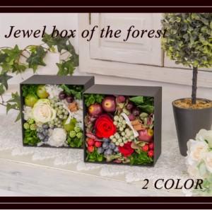 プリザーブドフラワー ボックスアレンジ 森の宝石箱 誕生日 インテリア お祝い 新築祝い