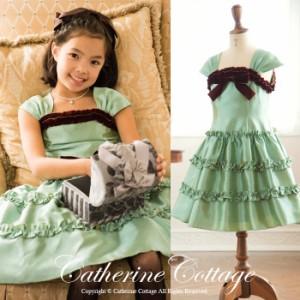 キッズドレス 子供 ドレス 女の子 結婚式 ピアノ 発表会 衣装 七五三 アースカラーフリル ワンピース TAK PC546DR